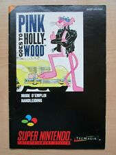 SNES - MANUAL ONLY - Pink Goes to Hollywood