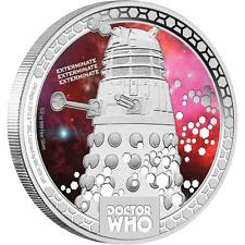 2014 $1 Niue Doctor Who Monsters Daleks 1/2oz Silver Proof Coin