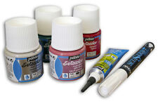 Pebeo Setacolor Fabric Paint Set I Opaque, Glitter, Pearl, Liner, White Marker