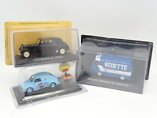 Stampa Ixo 1/43 - Lotto : Citroen Traction + Renault 4CV Patch + Corriere