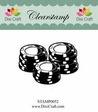 """Stempel """"Poker Chips"""" Dixi Craft, Clear Stamp, Jetons, Casino"""