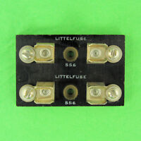 Heavy Duty Industrial Aviation Grade Double Fuse Block Holder for 10mm Dia Fuses