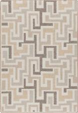 """5x8 Milliken Junctions Neutral Modern Maze Area Rug - Approx 5'4""""x7'8"""""""