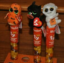 Ty Beanie Boos Halloween Toppers LOT of 3 Mist Shadow Ghoulie w/ Jelly Beans NEW