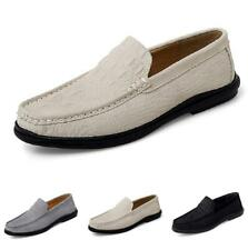 Mens Faux Leather Shoes Pumps Slip on Loafers Crocodile pattern Soft Comfy 47 D
