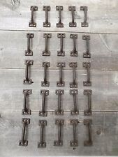 "25 Cast Iron Handles Rustic Drawer Pulls Small 3 1/2"" Kitchen Cabinet Bathroom"