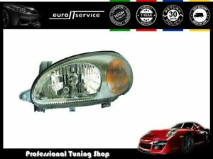 Left Headlight Daewoo Lanos 1997 1998 1999 2000 2001- Gray