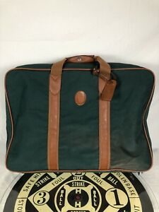 Vintage Polo Ralph Lauren Green Canvas Tote Bag Carry On Luggage Overnight