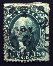 32 10c Green 1857 Ty II VF Used