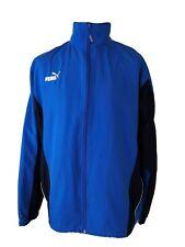 PUMA Men's Blue Track Jacket Size Large Full Zip Lightweight Outdoor Running 804