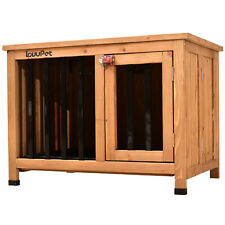 Wooden Portable Foldable Pet Crate Indoor Dog Kennel Cage with Tray 0650 0651