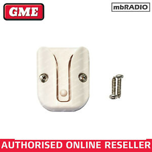 GME MB029W WHITE MICROPHONE HANG UP CLIP, BACKING PLATE & SCREWS