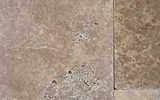 1x Travertin Noce antik getrommelt Muster 10x10x1,2 Marmorboden Naturstein