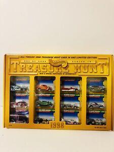New 1998 complete set Hot Wheels Treasure Hunt 1-12 in original sealed box