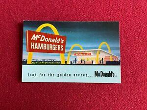 1960's, McDonald's, Vintage Business Card  (Scarce / Vintage)