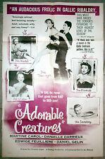 Cartel Adorable Creatures Christian-Jaque Martine Carol Edwige Feuillère 1952