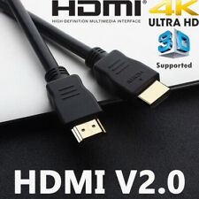 HDMI 1M Cable High Speed Premium V2.0 Ultra HD 4K 2160p 1080p 3D Stable Transit