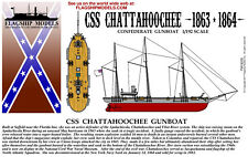 FLAGSHIP MODELS 1/192 scale CSS CHATTAHOOCHEE GUN BOAT (11 inches long)