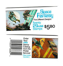 Space Fantasy Issue Booklet MNH 20 stamps #2741-45  Never Opened 1993 VF
