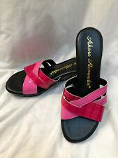 "NWOB Athena Alexander Sz 8.5M/39 Hot Pk/Red Patent Leather 2 1/4"" Wedge Sandal"