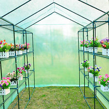 8'x6'x7' Portable Greenhouse Walk-In Green House Outdoor Plant Garden 18 Shleves