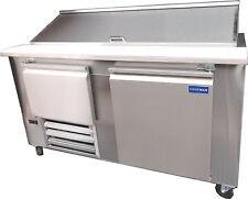 "Coolman Commercial 1-1/2 Door Refrigerated Sandwich Prep Unit 60"""