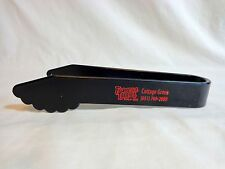 FAMOUS DAVES Buffet Tongs ONE Piece Cottage Grove MN Black Plastic Grad Party