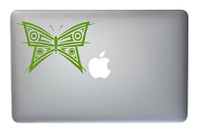 Pretty Abstract Butterfly - 5 Inch Lime Vinyl Decal for Macbook, Laptop