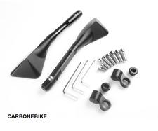 Rétroviseur design CNC Alu noir roadster universel 8mm 10mm Guidon retro