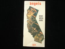 1971 Los Angeles Angels Media Guide EX