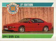 1991 BMW 850i, Germany, Dream Cars Trading Card, Automobile --- Not Postcard