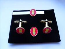 Bomb Disposal Badge Cufflink tieslide  +lapelpin set. RE, Royal Engineers Army