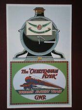 POSTCARD THE CHELTENHAM FLYER HEADBOARD GWR WORLD'S FASTEST TRAIN