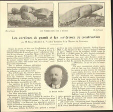 23 CARRIERES DE GRANIT ET MATERIAUX DE CONSTRUCTION ARTICLE PRESSE PIERRE CLUZET