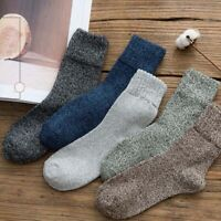 Cashmere Casual Warm Winter 5 Pairs Socks Thick New Wool Soft Men Sports Solid