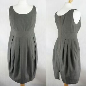 PAUL SMITH Pleated Check Dress SIZE UK 12-14 Sleeveless Formal Business Office