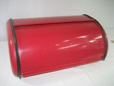 Red Bread Box Storage Bin Stainless Steel Kitchen Food Container