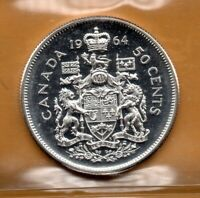 ICCS PL65 PL-65 1964 Canada Half Dollar Beautiful ULTRA HEAVY CAMEO Proof Like