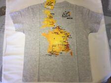 Tee shirt officiel Tour de France 2014 avec carte miniature, plusieurs tailles