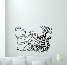 Winnie The Pooh Wall Decal Tigger Piglet Cartoon Vinyl Sticker Kids Decor 210zzz