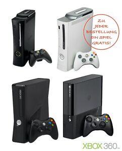 XBOX 360 Konsole (weiß / schwarz) SLIM ELITE + ORIGINAL Controller & Kabel