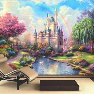 Backdrop Wallpaper 3D European Style Fantasy Castle Murals Living Room Children
