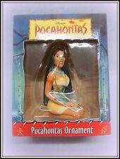 1995 GROLIER CHRISTMAS MAGIC DISNEY POCAHONTAS ORNAMENT W/ ORIGINAL COA & BOX