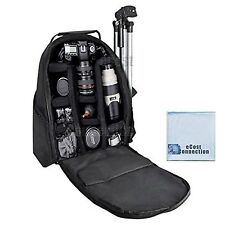 Deluxe Digital Camera / Video Padded Backpack For Nikon Canon Sony Pentax DSL...