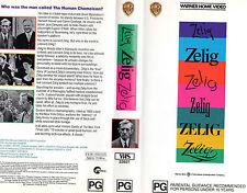 ZELIG -A Woody Allen film-VHS-PAL-NEW-Never played!!- Rare!- Original Oz release