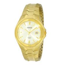 KIENZLE Herren- Armbanduhr vergoldet mit Datum und Zugband, 5 BAR wasserdicht