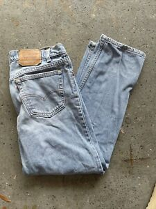 Levis 555 Relaxed Fit Straight Leg Jeans Tag Size 34x30