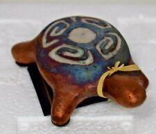 Raku Potteryworks - Clay Hand-Painted Fetish Turtle (New)