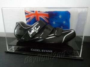 ✺Signed✺ CADEL EVANS Racing Shoe PROOF COA Tour de France Cycling