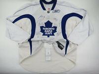 Signed Practice Worn Reebok Toronto Maple Leafs NHL Pro Stock Hockey Jersey 58